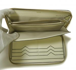 No.6 長財布 ラウンドファスナー (ホワイト)ゴールド色金具
