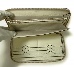 No.7 長財布 ラウンドファスナー (ホワイト)ゴールド色金具