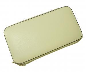 No.9 長財布 ラウンドファスナー (ホワイト)ゴールド色金具