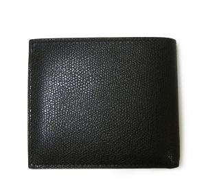 No.2 財布 二つ折 ラインデザイン(ブラック+ブルー)