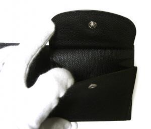 No.5 財布 二つ折 ラインデザイン(ブラック+ブルー)
