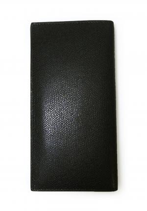 No.2 長札 二つ折 ラインデザイン(ブラック+ブルー)*小銭入れなし