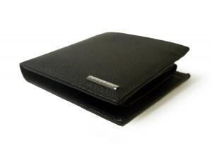 No.3 財布 メンズ 二つ折り グレインレザー (ブラック)