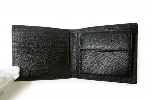 No.4 財布 メンズ 二つ折り グレインレザー (ブラック)