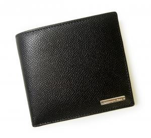 No.7 財布 メンズ 二つ折り グレインレザー (ブラック)