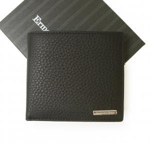 ゼニア 財布 メンズ 二つ折り ソフト グレイン レザー (牛革) (ネイビー)