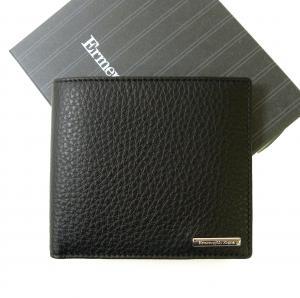 ゼニア 財布 札入れ メンズ ソフトグレインレザー 二つ折り (ブラック) *小銭入れ無し